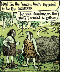 hunter-gatherer-weight loss diet Joke